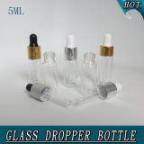5ml Clear Child Proof Airless Glass Parfum Dropper Bouteille