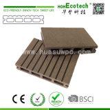 Placa Water-Resistant do Decking de WPC, revestimento projetado, Decking composto plástico de madeira ao ar livre de WPC
