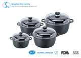 Aluminium Die-Casting Non Stick Set de cuisinières Induction Bottom Ceramic Coating Marble