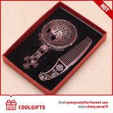 Espejo cosmético de la manija al por mayor con el sistema del peine para el regalo de boda