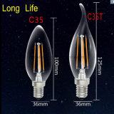 Bulbo de lâmpada brilhante da iluminação do diodo emissor de luz da vela do diodo emissor de luz do teto do vintage C35 de MTX