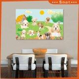 Het digitale Afgedrukte Olieverfschilderij van Honden voor de Decoratie van het Huis