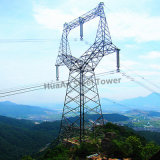 Galvanizados a quente 10kv-1100kv linha de transmissão de energia elétrica e telecomunicações Torre Latticed metálicas de aço