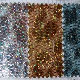 Hexagonale Netto schittert het Leer van Pu voor Kledingstuk hw-762 van de Riemen van Schoenen