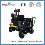 Compresor de aire y generador diesel 5kVA del soldador