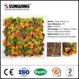 12 Pieces 50 X50cm altamente durável e reutilizável DIY Folhas Varanda de enfeites de jardim