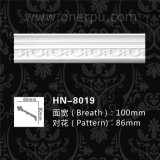 Polyuréthane décoratif de moulage de tête de corniche de plafond d'unité centrale moulant Hn-8019