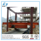 Separador magnético da correia transportadora para manipulação de ferros do cimento