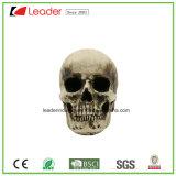 Halloweenおよびホーム装飾のためのPolyresinの頭骨の灰皿の置物