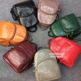 Sac à dos en cuir véritable pour femmes Sac à main crocodile pour extérieur Emg4961