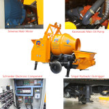 Bomba de betão hidráulica móvel com misturador de tambor (JBT40-P)