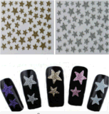 Etiqueta engomada de moda del clavo de las etiquetas engomadas del arte del clavo de la decoración de la etiqueta de la estrella 3D