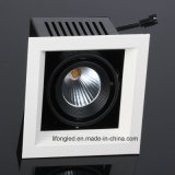 Elegante Superficie Negro Color 7W COB LED Grillr Luz Downlight para Francia