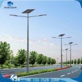 luz de rua do diodo emissor de luz da potência solar da lâmpada IP65 do dobro da estrada de 8m