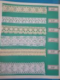 Los encajes de máquina textil hilados de algodón