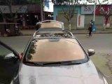 Vidro dianteiro alta transparência Película de vidro automóvel pulverizaça ̃ o