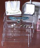 Les cartes de montage en acrylique clair forme en U pour les bijoux Présentoir