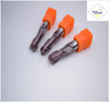 鋼鉄CNCの機械化の部品&#160のためのCutoutil HRC55 TialnのコーティングR1.0*4*4D*50L*2f/4f; 球の鼻の端製造所