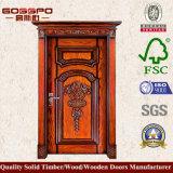 Парадный вход входа оптовой продажи двери твердой древесины природы (XS2-008)