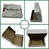Rectángulo de regalo de empaquetado caliente de boda del rectángulo de la alineada de boda de la cartulina de la venta