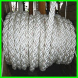 ABS/BV/Lr/CCS/Kr/Nk Bescheinigung 104mm 8 Fleck-Kern, geflochtenes umsponnenes Nylon/PE/PP/UHMWPE Liegeplatz-Seil