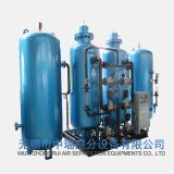 Instalación de producción del oxígeno con el sistema de relleno del cilindro