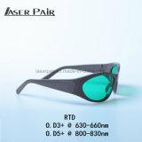 Óculos de protecção laser toda a protecção Óculos de Alto Desempenho/Óculos para 650nm/808nm Laser de diodo