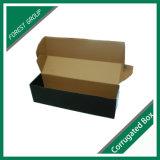 주문을 받아서 만들어진 인쇄된 까만 물결 모양 화물 박스