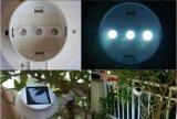 Lámpara al aire libre 1W SL1-2 del sensor ligero del panel solar 3-LED