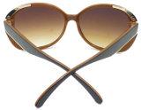 F17188 раунда большой рамы женских Elegent солнцезащитные очки ПК продукта