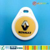 La impresión de logotipo multicolor 13.56MHz NFC NTAG210 Micro Llavero RFID ABS