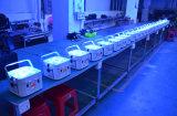 12*18W LED 동위는 디스코 DJ 단계 조명 기구를 위한 1개의 DMX 무선 건전지 동위 빛에 대하여 가벼운 RGBWA+UV 6을 통조림으로 만든다