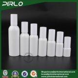 (20ml 30ml 50ml 60ml 80ml 100ml 150ml) frasco branco de pintura de Alminum da cor com o pulverizador de prata da bomba