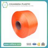 ケーブルで通信されたねじれのための100%年の織物900dオレンジFDY PPのヤーン