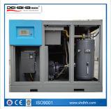 compressor de ar variável certificado Ce do parafuso da freqüência do ímã permanente de 75kw 0.8MPa~1.25MPa