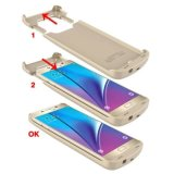 매우 얇은 백업 힘 은행 예 팩 Samsung 은하 S7 가장자리를 위한 외부 백업 배터리 충전기 예