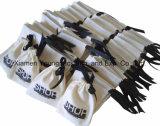 Fördernder Zoll gedruckter kleiner organischer Baumwollsegeltuch-Schmucksache-Geschenk-Beutel