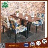Mesa de café para sala de consultoria Mesa de mesa com madeira