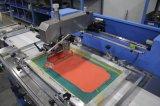 Máquina de impressão automática da tela da etiqueta de cuidado de 3 cores com cerco
