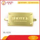 Custom Design Zinc Alloy Metal Tags Balises et étiquettes de noms pour les sacs à main