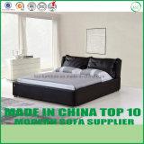 Hotel-Schlafzimmer-Leder-Gewebe-Bett für Großverkauf