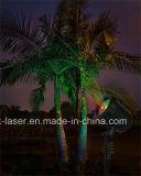 着色される新しい明るくRgは夜星のクリスマスの景色のレーザー光線の星明かりのシャワーをつける