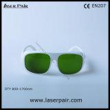 O.D4+@800-1700nm/gafas de seguridad de laser del diodo con el marco blanco 52