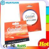 O PVC personalizado14443ISO UM MIFARE Classic 1K a RFID hotel key card com o titular do cartão