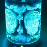 낭만주의 안개 Humidifier&Nbsp를 점화하는 밝은 LED를 전기도금을 하십시오; 훈장을%s 3D로 커버 유리