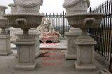 Pot mármol para la decoración del jardín escultura de piedra