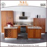 現代新式の純木のベニヤの食器棚