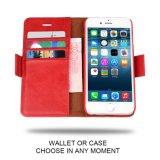 кожи Vegan случая iPhone 6 iPhone 6s добавочной [отделяемого Folio] бумажника [2 в 1] [наградной] плюс случай бумажника