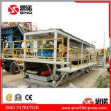 Presse automatique de filtre à plaque de chambre de haute performance pour l'industrie minière