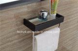 Elegante schwarze Edelstahl-Badezimmer-Eitelkeit mit Aufhängung